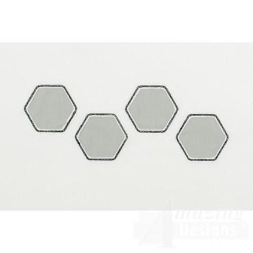 Hexagon Line Reverse Applique Embroidery Design