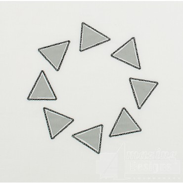 Triangle Ring Reverse Applique Embroidery Design