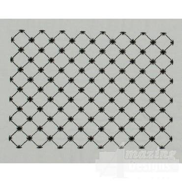 Diamond Grid Pattern Applique Embroidery Design