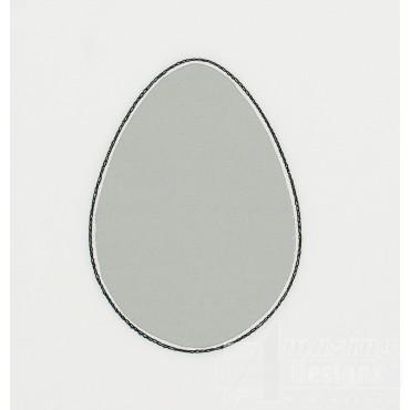 Egg Reverse Applique Embroidery Design