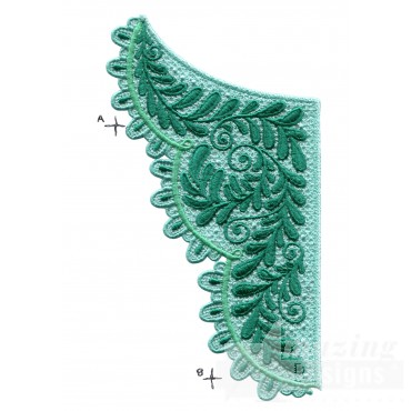 Lace402-c Fashionable Lace Embroidery Design