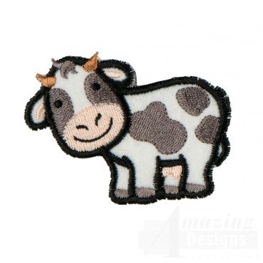 Cow In-the-hoop Keychain Embroidery Design