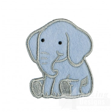 Elephant In-the-hoop Keychain Embroidery Design