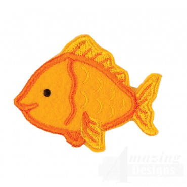 Gold Fish In-the-hoop Keychain Embroidery Design
