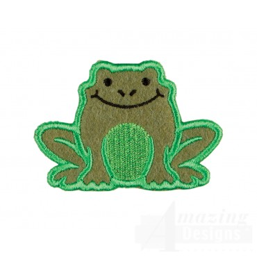Frog In-the-hoop Keychain Embroidery Design