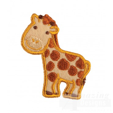 Giraffe In-the-hoop Keychain Embroidery Design