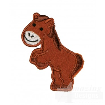 Horse In-the-hoop Keychain Embroidery Design