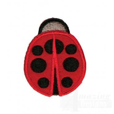 Ladybug In-the-hoop Keychain Embroidery Design