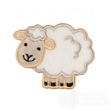 Sheep In-the-hoop Keychain Embroidery Design