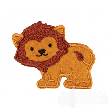 Lion In-the-hoop Keychain Embroidery Design