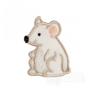 Mouse In-the-hoop Keychain Embroidery Design