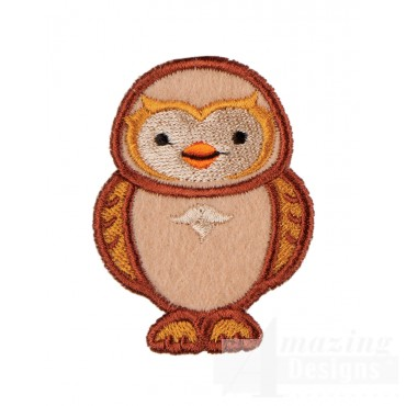 Owl In-the-hoop Keychain Embroidery Design