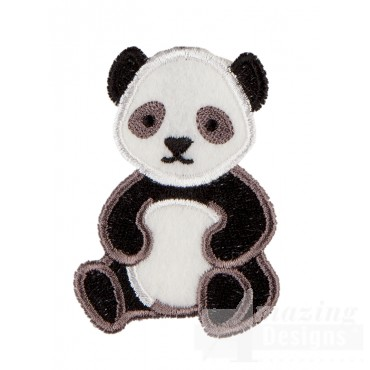 Panda In-the-hoop Keychain Embroidery Design