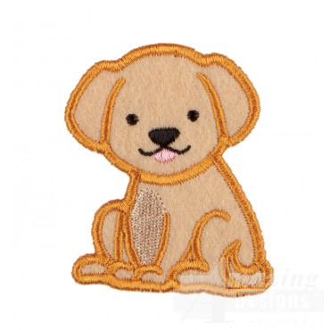 Dog In-the-hoop Keychain Embroidery Design