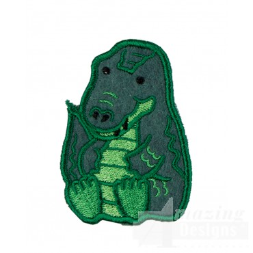 Aligator In-the-hoop Keychain Embroidery Design