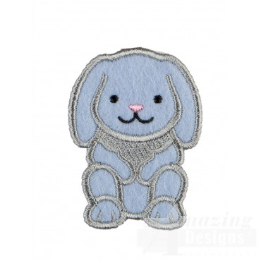 Rabbit In-the-hoop Keychain Embroidery Design
