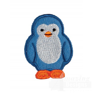 Penguin In-the-hoop Keychain Embroidery Design