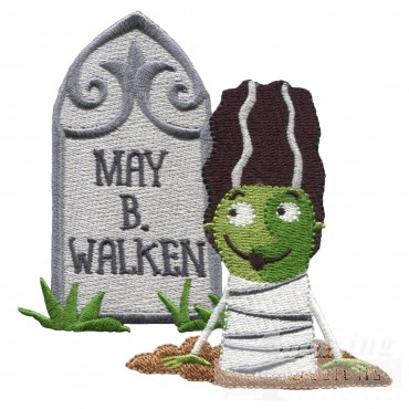 May B Walken Grave Situation Embroidery Design