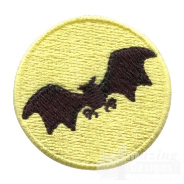 Bat In Moon Grave Situation Embroidery Design