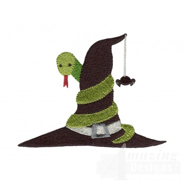 Witch Hat Grave Situation Embroidery Design