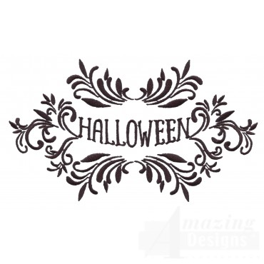 Ornate Halloween Grave Situation Embroidery Design