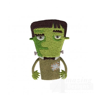 Frankenstein Grave Situation Embroidery Design