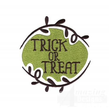 Trick Or Treat Grave Situation Embroidery Design
