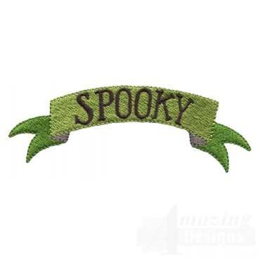 Spooky Banner Grave Situation Embroidery Design