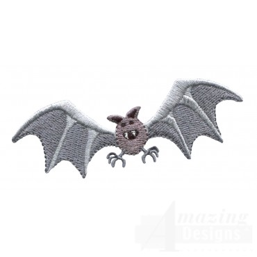 Flying Bat Grave Situation Embroidery Design