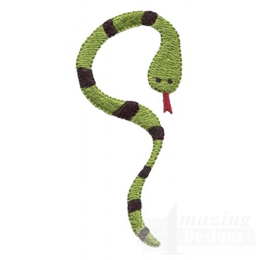 Snake Grave Situation Embroidery Design