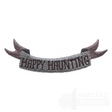 Happy Haunting Grave Situation Embroidery Design