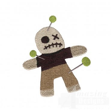 Voodoo Doll Grave Situation Embroidery Design