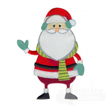 Santa A Very Merry Christmas Embroidery Design