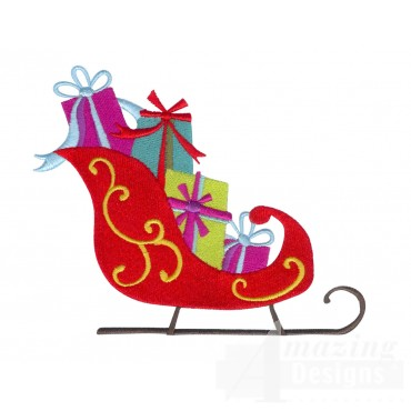 Sleigh A Very Merry Christmas Embroidery Design