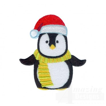 Penguin A Very Merry Christmas Embroidery Design