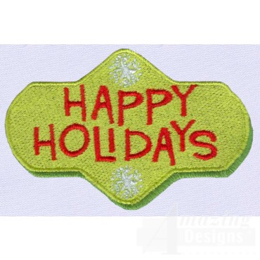 Happy Holidays A Merry Christmas Embroidery Design