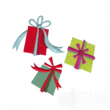 Presents A Very Merry Christmas Embroidery Design