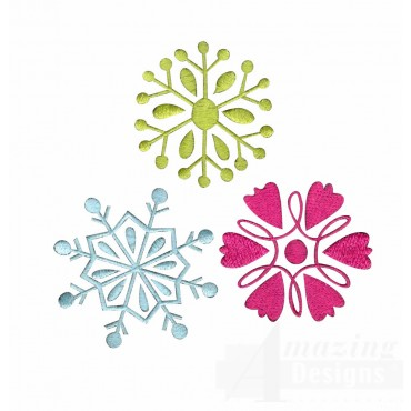 Snowflakes A Merry Christmas Embroidery Design