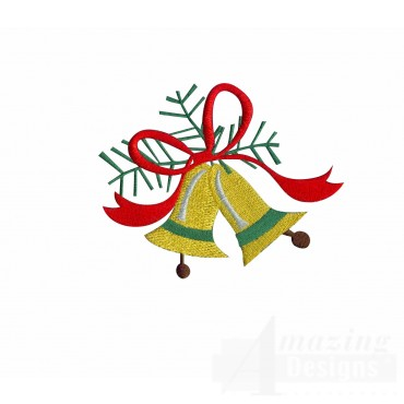 Bells A Merry Christmas Embroidery Design