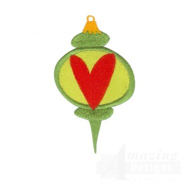 Ornament 1 A Merry Christmas Embroidery Design