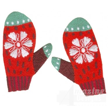 Mittens A Merry Christmas Embroidery Design
