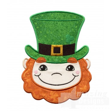 Leprechaun Holiday Face Applique
