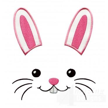 Bunny Holiday Face Applique