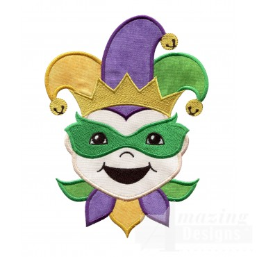 Mardi Gras Holiday Face Applique