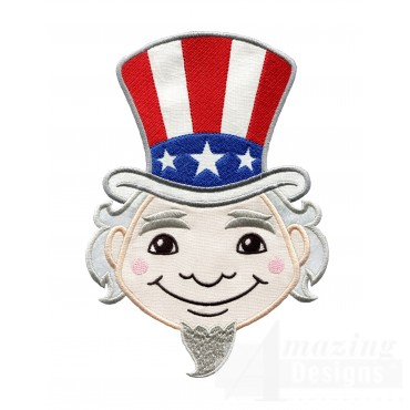 Uncle Sam Holiday Face Applique