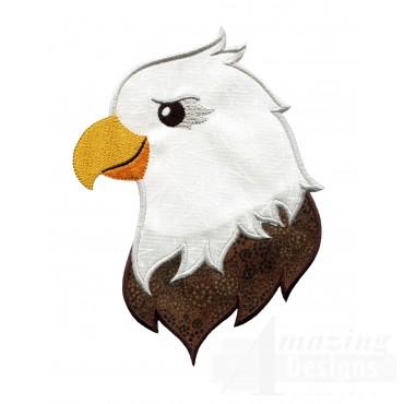 Eagle Holiday Face Applique
