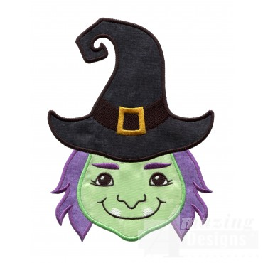 Witch Holiday Face Applique