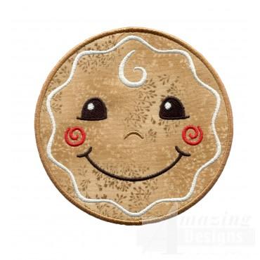 Gingerbread Holiday Face Applique
