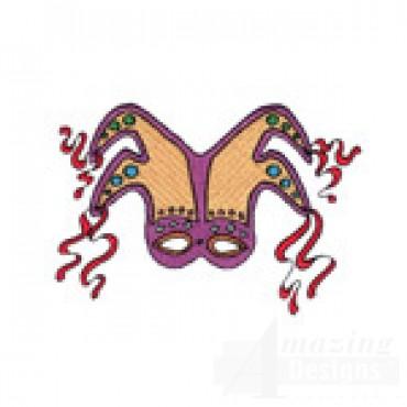 Purple And Tan Mask