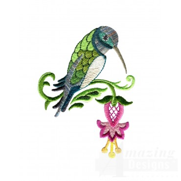 Hummingbird 1 Embroidery Design